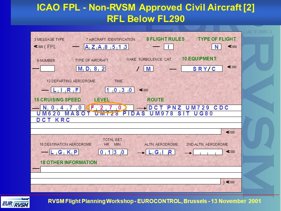ICAO FPL - Non-RVSM Approved Civil Aircraft [2]